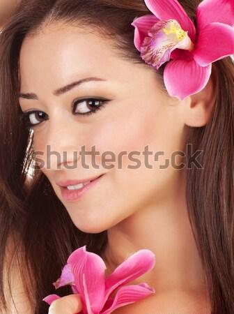 Stok fotoğraf: Güzel · bir · kadın · spa · portre · güzel · sarışın · kadın
