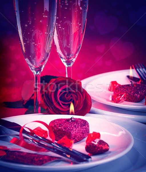 Romantic table setting Stock photo © Anna_Om