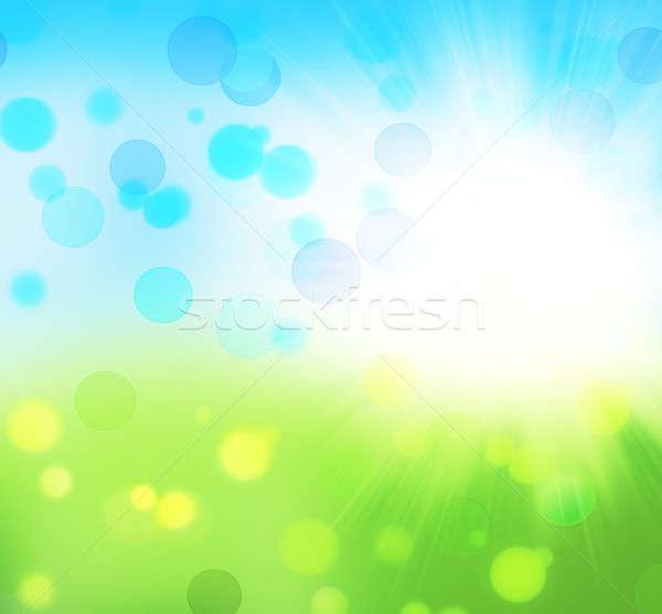 Foto stock: Fresco · natureza · abstrato · primavera · bokeh · luz