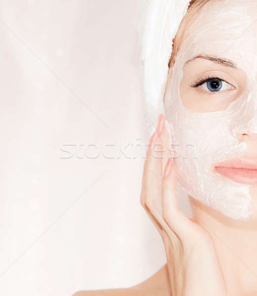 Masque belle visage portrait Homme Photo stock © Anna_Om