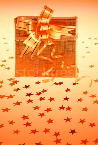 Gift box with stars Stock photo © Anna_Om