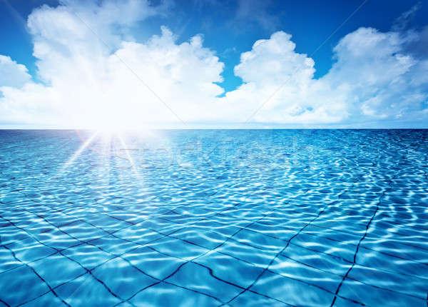 ストックフォト: エンドレス · プール · 水 · 青空 · 明るい · 太陽