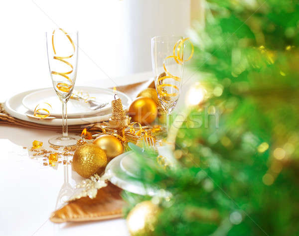 Christmas table setting Stock photo © Anna_Om
