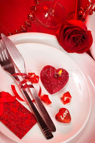 Stock photo: Romantic tableware
