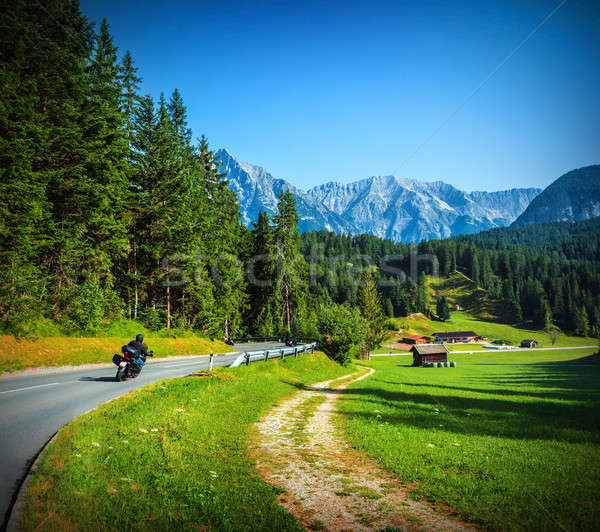 Bikers on mountainous road Stock photo © Anna_Om