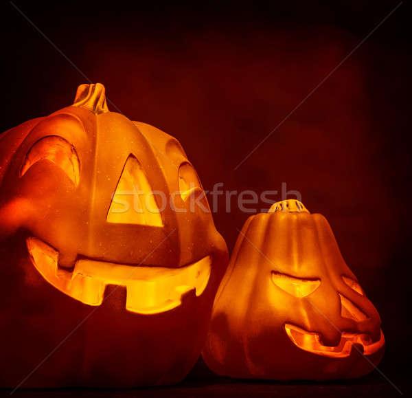 Stock photo: Halloween pumpkin decoration