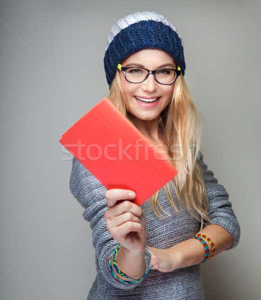 Stock photo: Happy student portrait