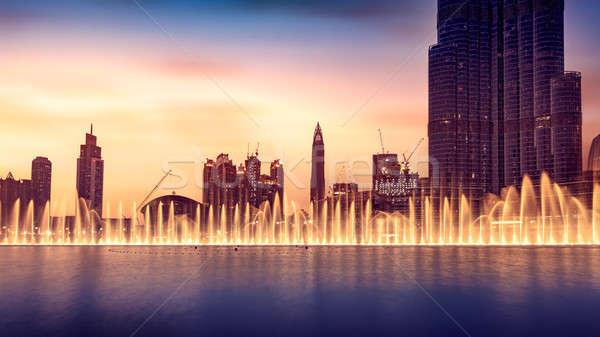 Musical fontein Dubai verbazingwekkend mooie Stockfoto © Anna_Om