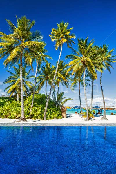 Luxe plage Resort île scène destination Photo stock © Anna_Om
