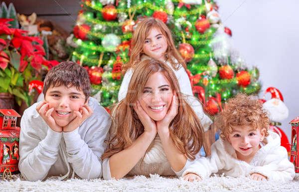 Stock photo: Happy Christmas celebration
