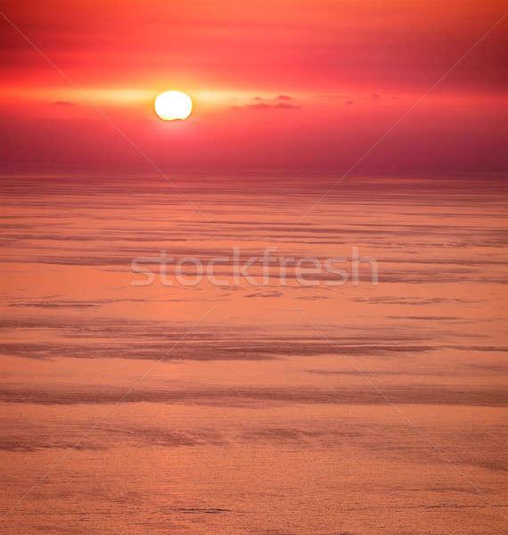 Gyönyörű naplemente tájkép tenger elképesztő romantikus Stock fotó © Anna_Om