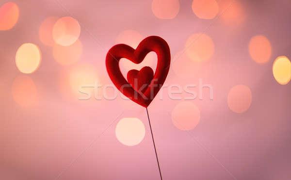 Alle behoefte liefde valentijnsdag vakantie Rood Stockfoto © Anna_Om
