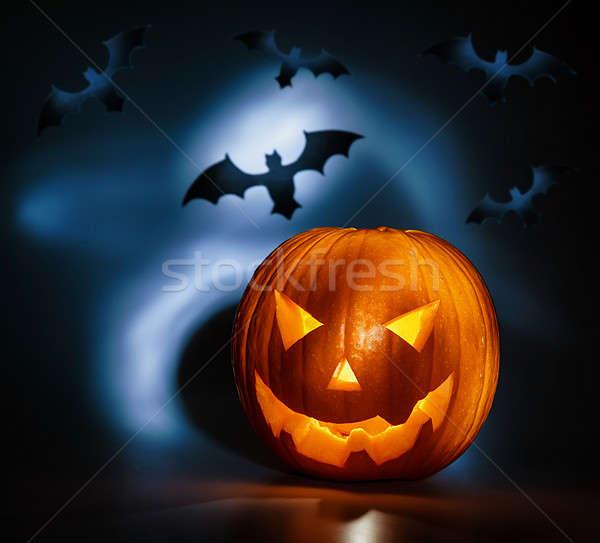 Halloween photos vacances citrouille noir Photo stock © Anna_Om