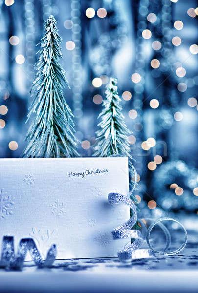 Zdjęcia stock: Wesoły · christmas · kartkę · z · życzeniami · mały · dekoracyjny