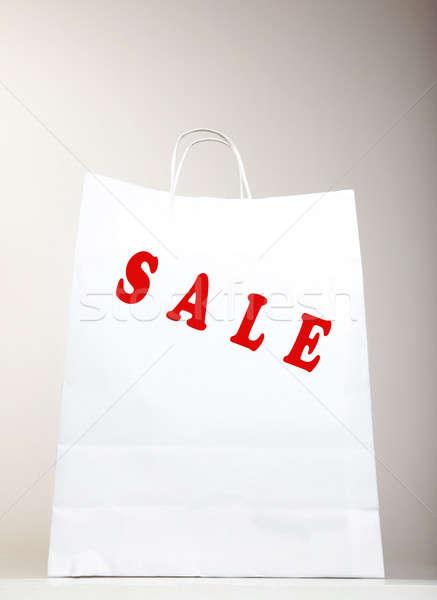 White Shopping Bag Stock photo © Anna_Om