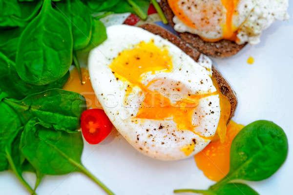 Delicious eggs Benedict Stock photo © Anna_Om