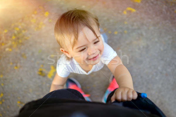 Happy boy with mommy Stock photo © Anna_Om