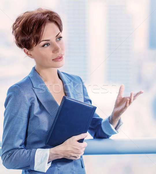 Stock photo: Business woman at work