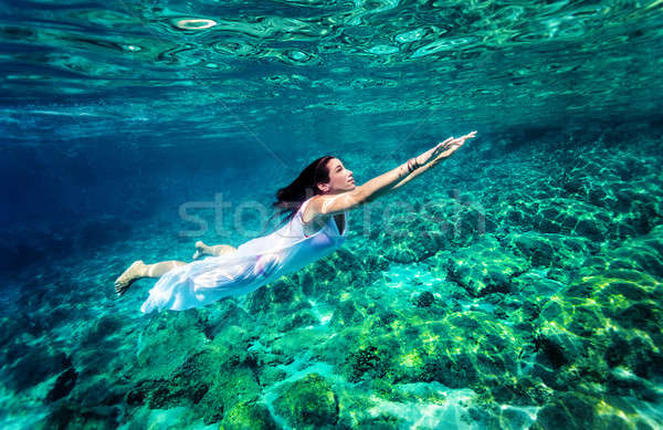 Refreshing swimming underwater Stock photo © Anna_Om