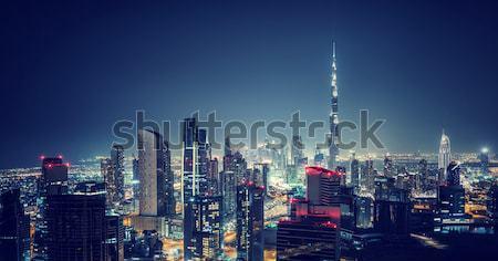Beautiful Dubai city at night Stock photo © Anna_Om