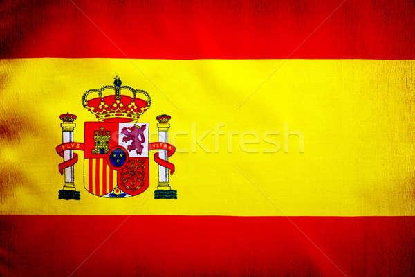 スペイン国旗 黄色 赤 布 スペイン エンブレム ストックフォト © Anna_Om