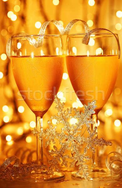 Romantyczny wakacje uroczystości obiedzie christmas nowy rok Zdjęcia stock © Anna_Om