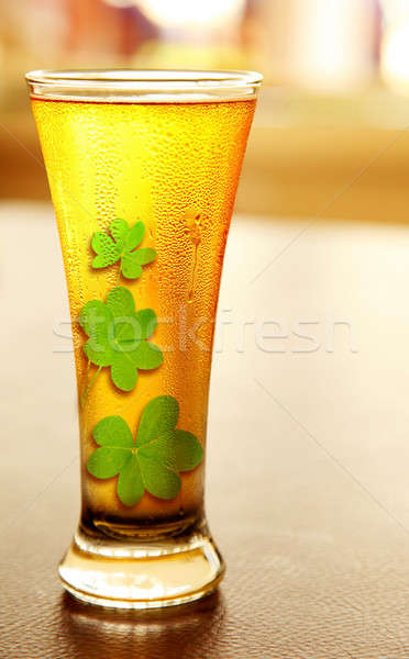 Stock photo: Cold lucky beer