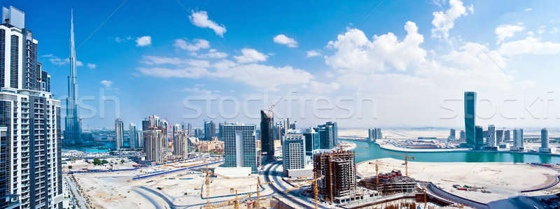 Panoramique image Dubaï ville modernes cityscape Photo stock © Anna_Om