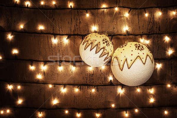 Christmas balls Stock photo © Anna_Om
