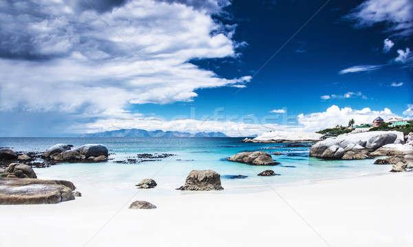 Paraíso playa panorámica paisaje pacífico relajante Foto stock © Anna_Om