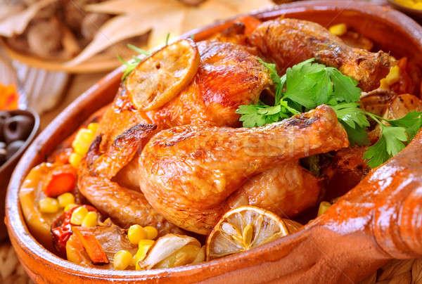 Tasty baked chicken Stock photo © Anna_Om