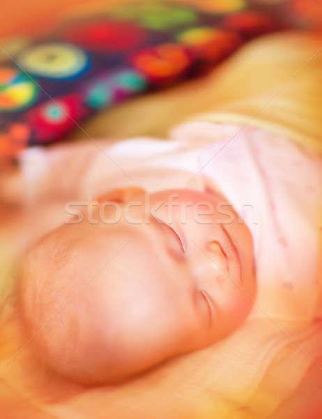 Recém-nascido bebê retrato adormecido Foto stock © Anna_Om