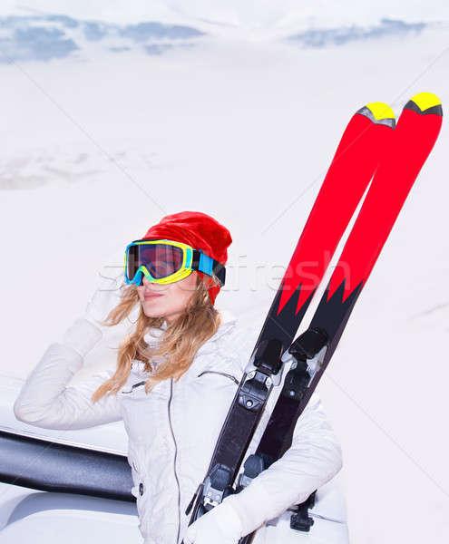 Beautiful ski instructor Stock photo © Anna_Om
