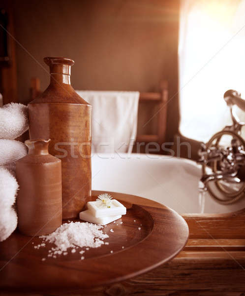 Luxury bathroom interior Stock photo © Anna_Om