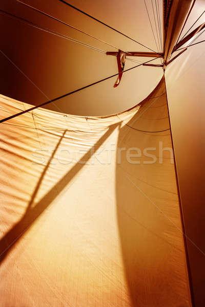 Sails in sunset light Stock photo © Anna_Om
