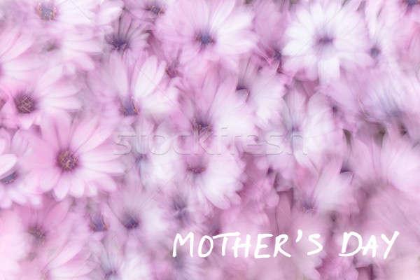 Foto stock: Mães · dia · cartão · férias · dom