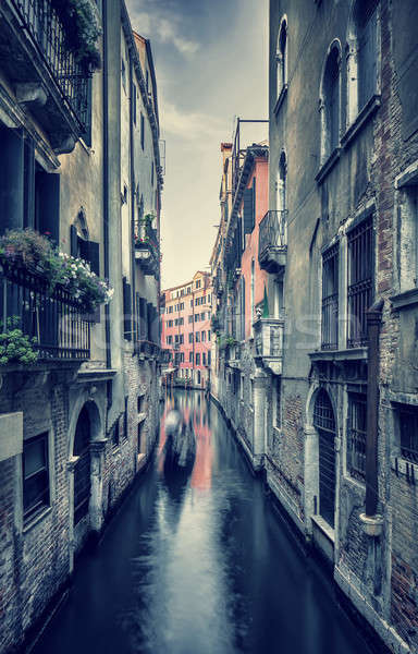 Сток-фото: старые · улице · Венеция · Гранж · стиль · фото