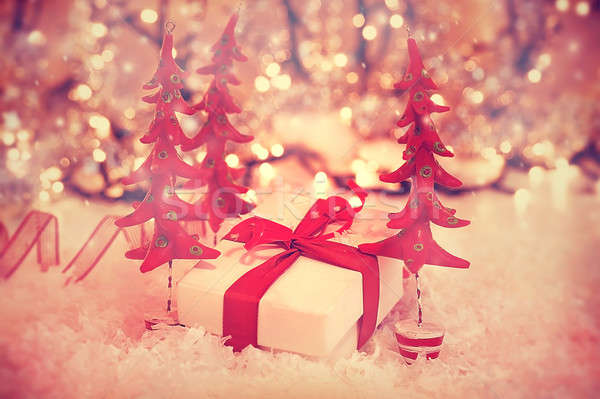 Beautiful vintage Christmas gift Stock photo © Anna_Om