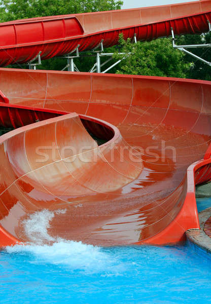 Su park slayt açık yaz faaliyetler Stok fotoğraf © Anna_Om