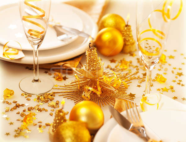 Christmastime table decoration Stock photo © Anna_Om