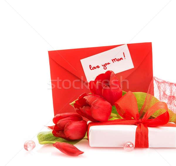Dar matki dzień Fotografia piękna romantyczny Zdjęcia stock © Anna_Om