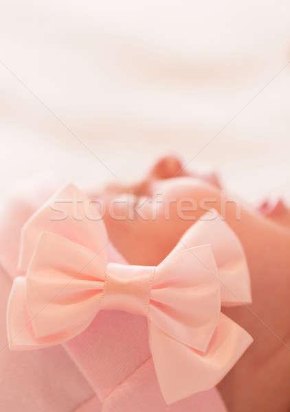 Neu geboren Baby weinen Porträt cute Stock foto © Anna_Om