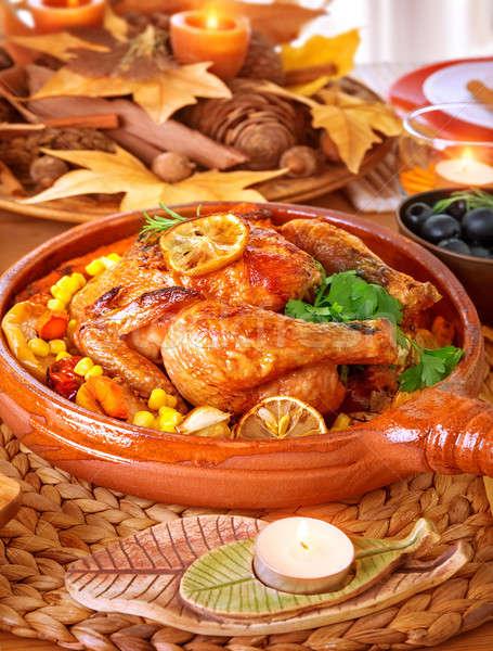 Thanksgiving family dinner Stock photo © Anna_Om