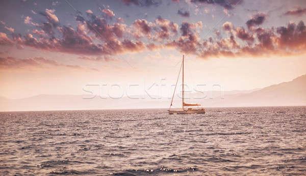 Beautiful sunset over sea landscape Stock photo © Anna_Om