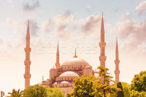Mavi cami İstanbul ünlü dini işaret Stok fotoğraf © Anna_Om