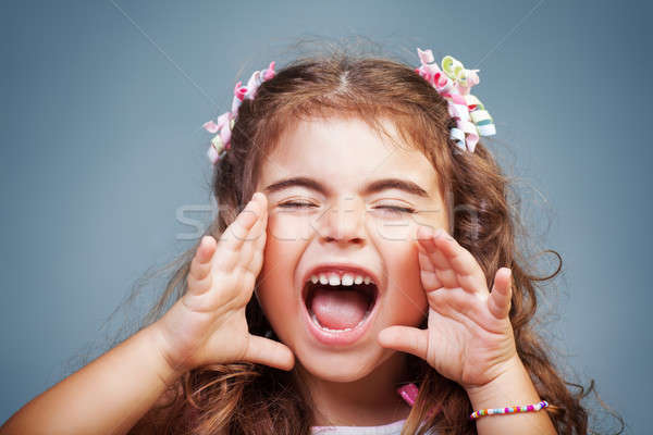 Little girl screaming Stock photo © Anna_Om