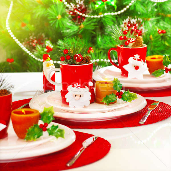 Christmas table setting Stock photo © Anna_Om