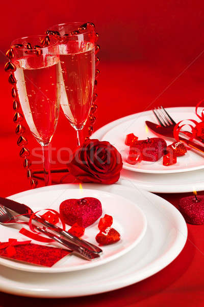 Valentine day dinner Stock photo © Anna_Om