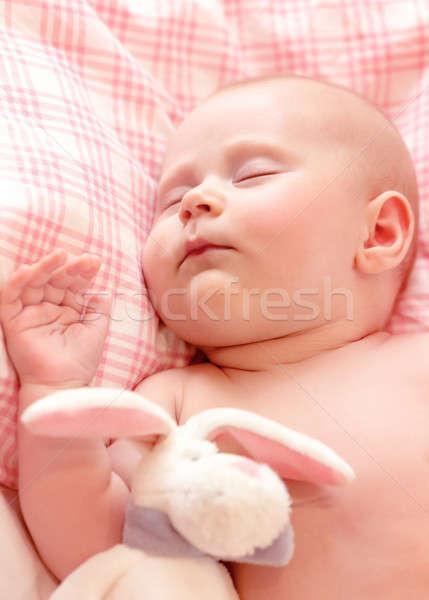 Newborn baby asleep Stock photo © Anna_Om