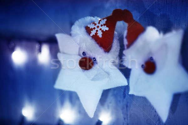 Zdjęcia stock: Streszczenie · christmas · dekoracji · mały · biały · gwiazdki